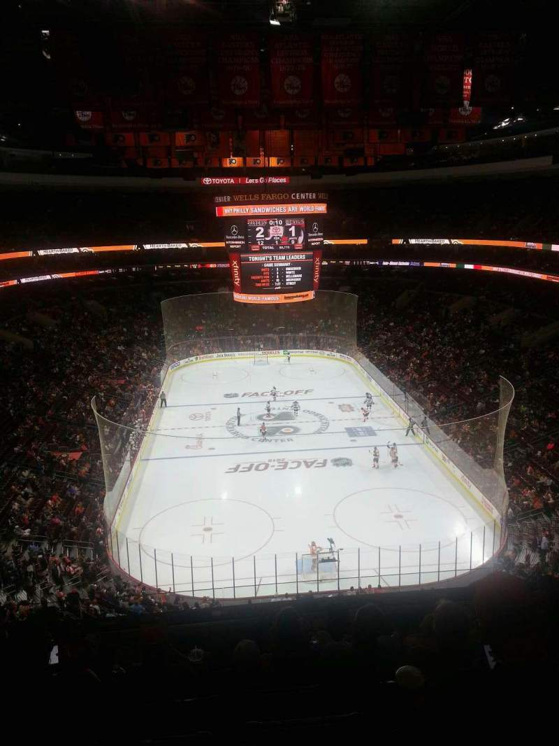 Seating view for Wells Fargo Center Section 207 Row 7 Seat 8