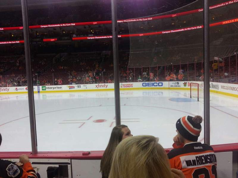 Seating view for Wells Fargo Center Section 103 Row 3 Seat 13