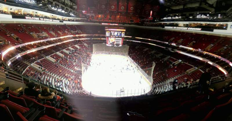 Seating view for Wells Fargo Center Section 207 Row 7 Seat 5