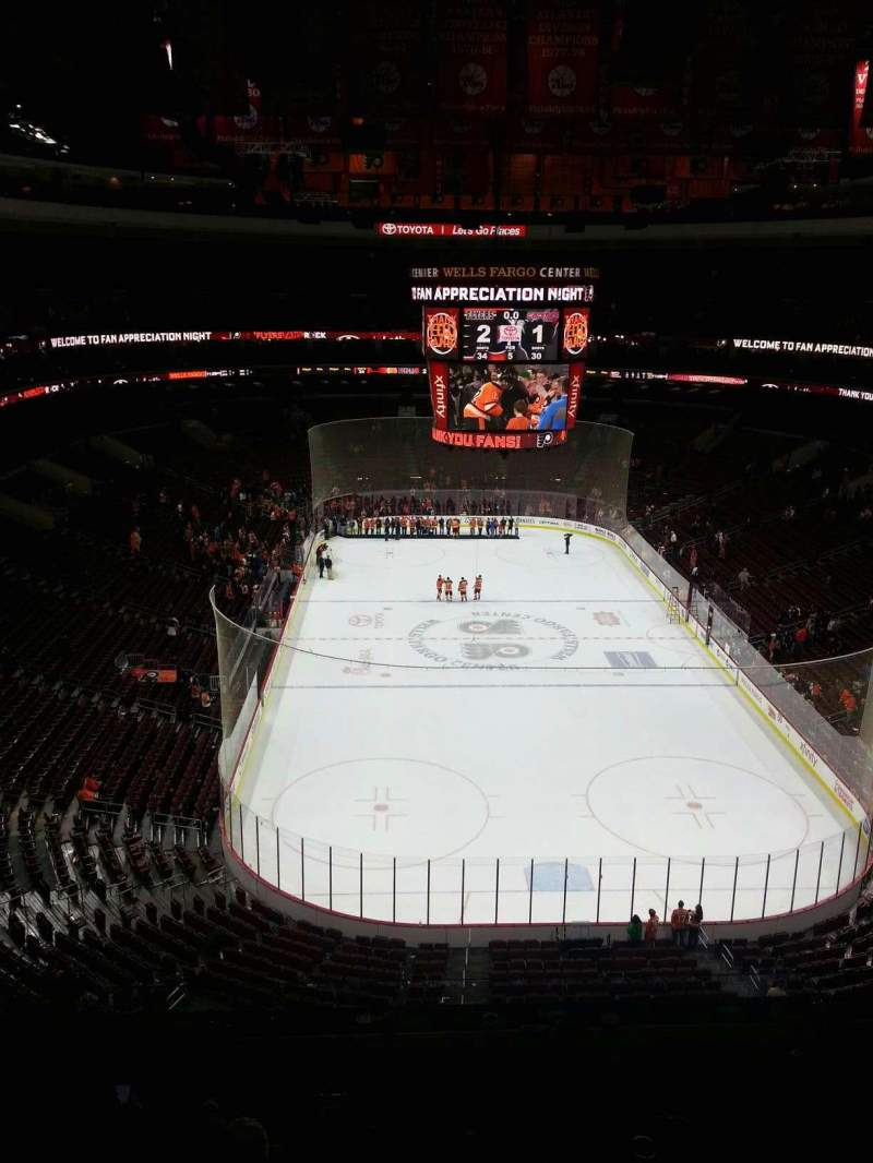 Seating view for Wells Fargo Center Section 207 Row 7 Seat 6