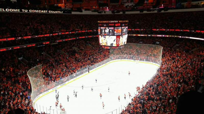 Seating view for Wells Fargo Center Section 221 Row 10 Seat 16