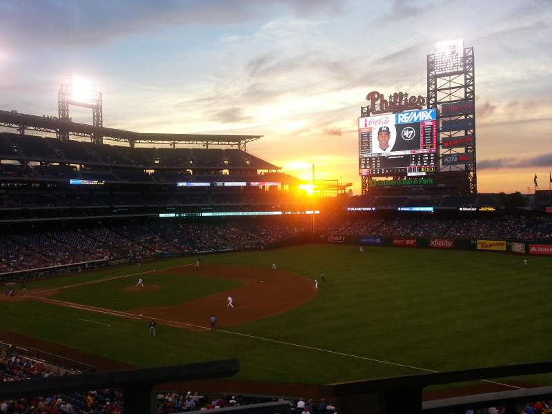 Seating view for Citizens Bank Park Section 210 Row 1 Seat 7