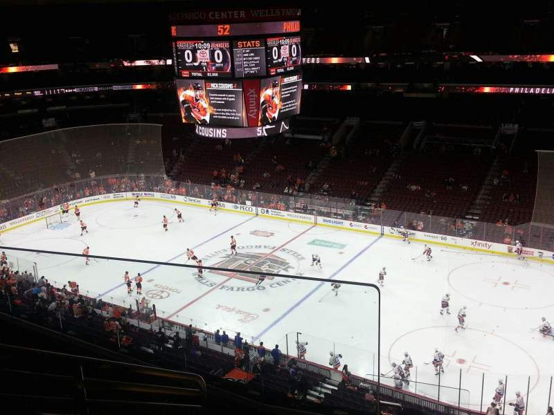 Seating view for Wells Fargo Center Section 204 Row 8 Seat 2