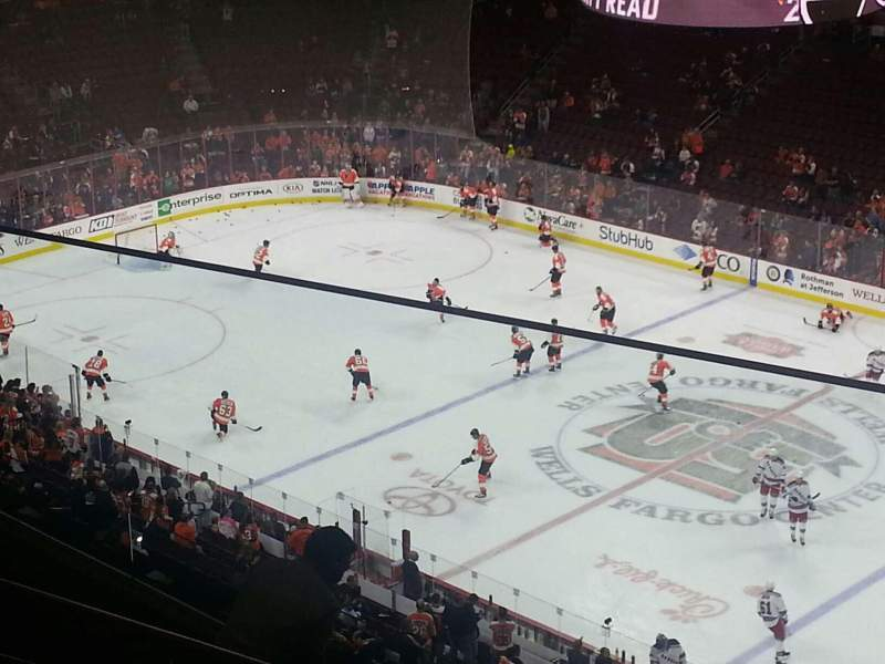 Seating view for Wells Fargo Center Section 204 Row 8 Seat 1