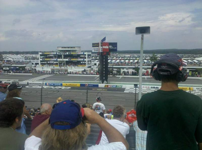 Seating view for Pocono Raceway Section 222