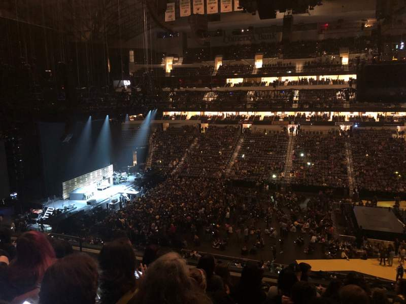 Seating view for American Airlines Center Section 217 Row G Seat 10