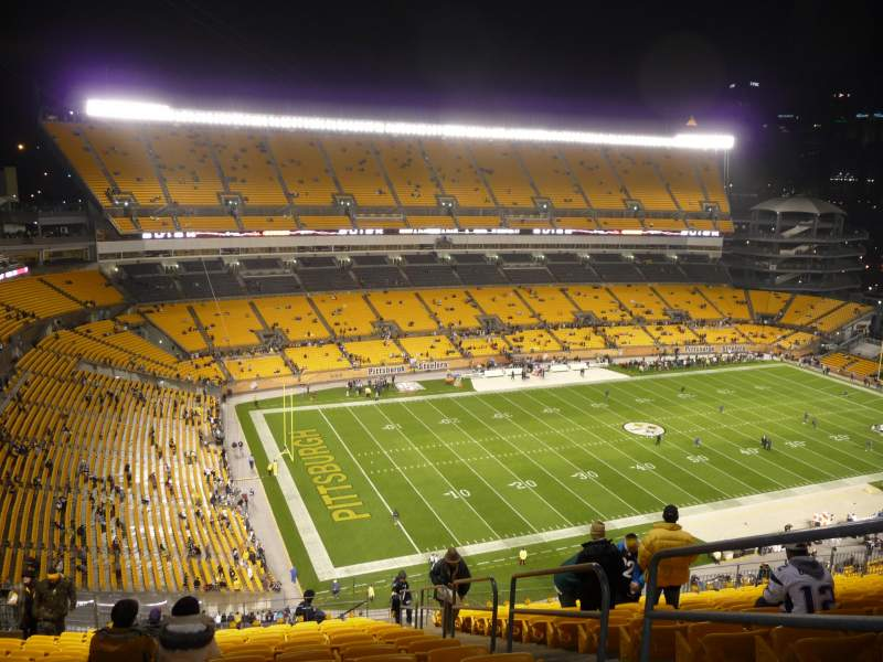 Seating view for Heinz Field Section 529 Row W Seat 3 and 4