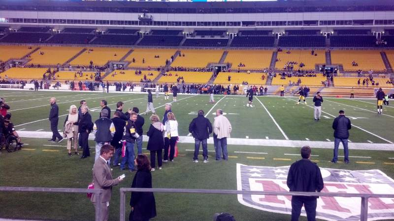 Seating view for Heinz Field Section 137 Row C Seat 10