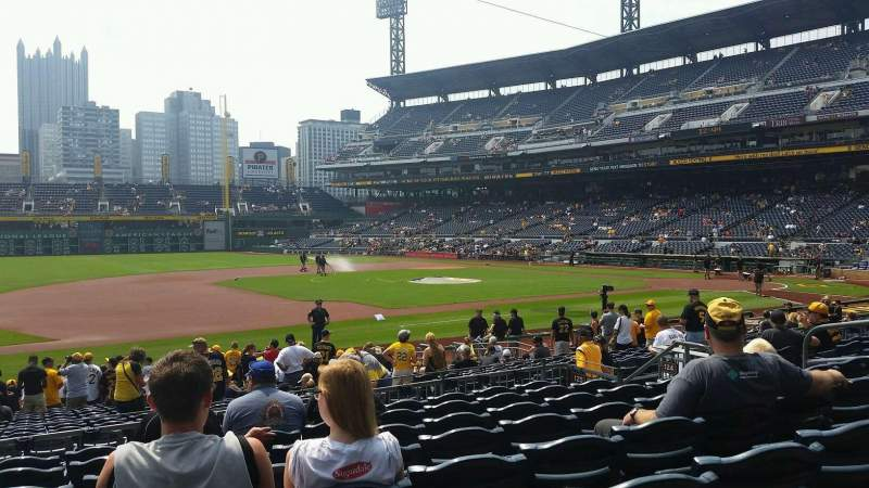 Seating view for PNC Park Section 125 Row H Seat 12