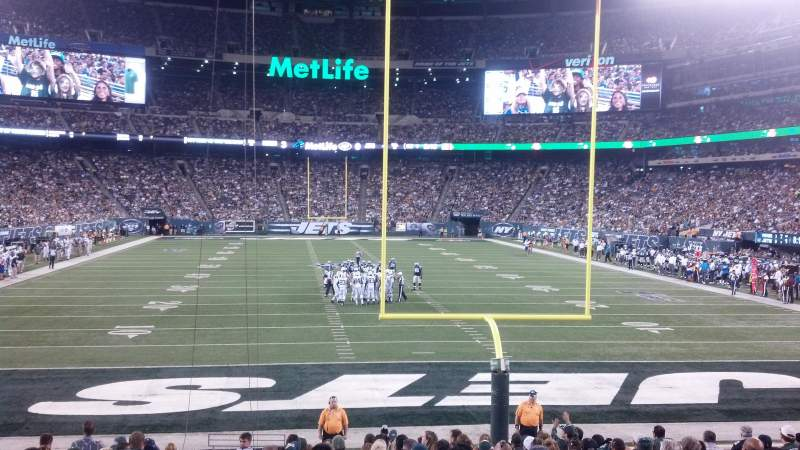 Seating view for Metlife Stadium Section 101 Row 17 Seat 24