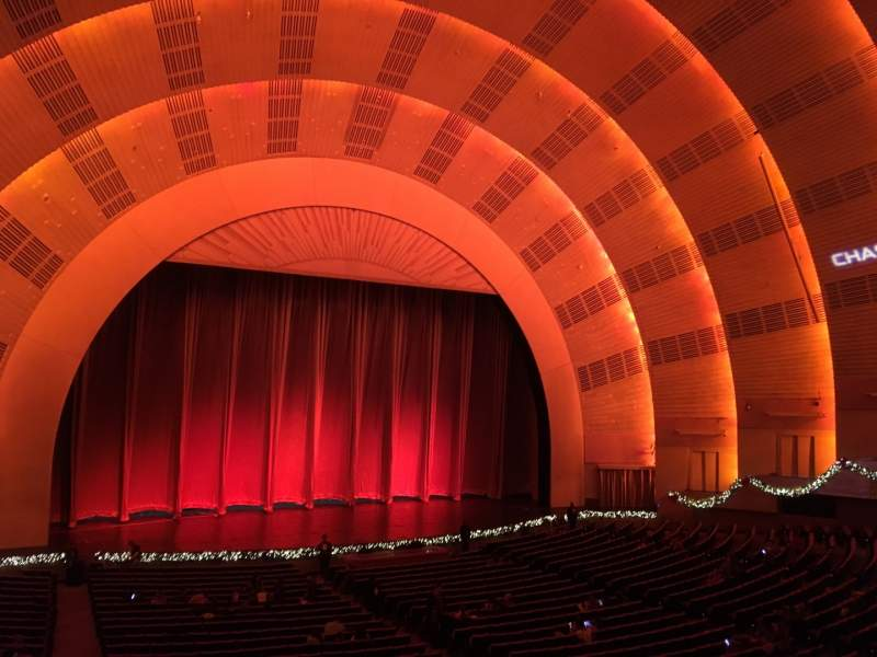 Seating view for Radio City Music Hall Section 1st Mezzanine 6 Row A Seat 604