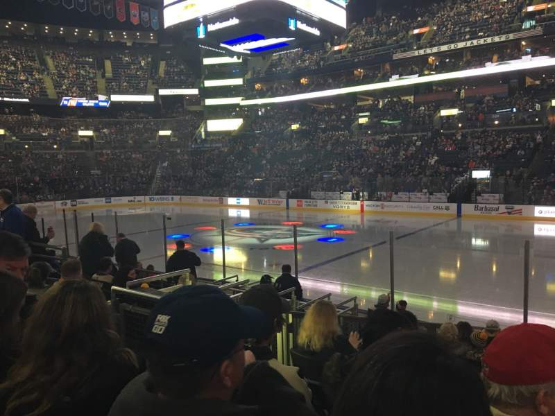 Seating view for Nationwide Arena Section 113 Row L Seat 6