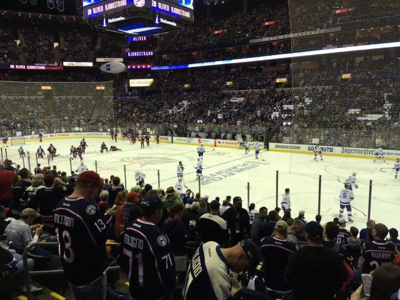 Seating view for Nationwide Arena Section 112 Row Q Seat 14