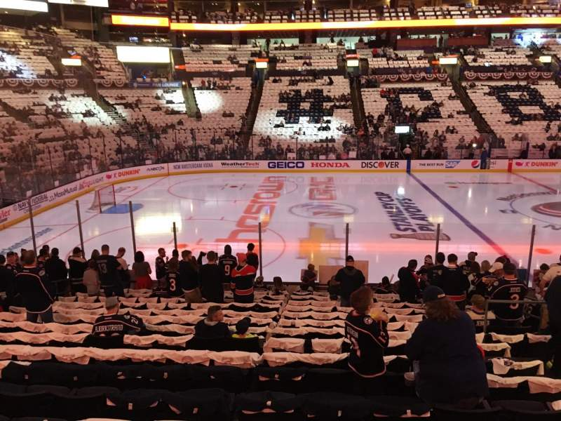 Seating view for Nationwide Arena Section 116 Row R Seat 8