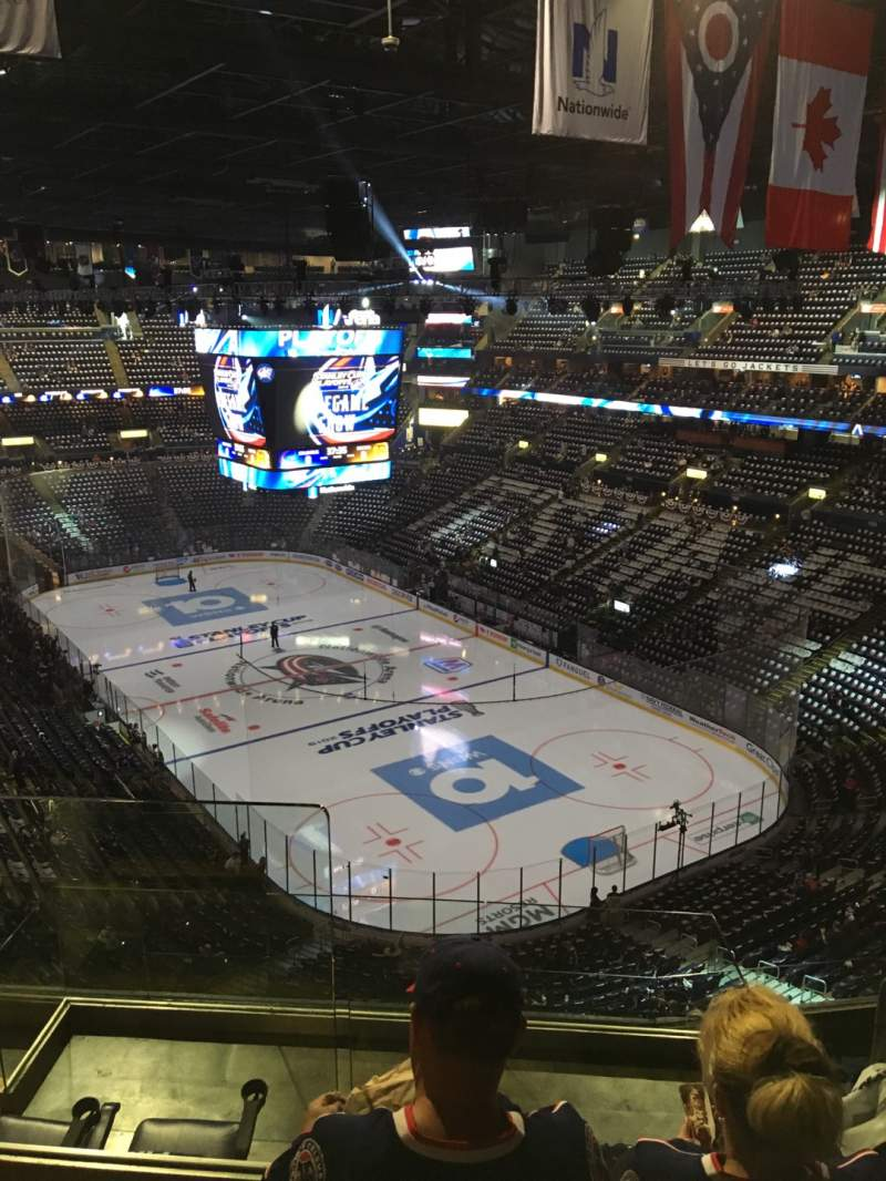 Seating view for Nationwide Arena Section 212 Row G Seat 14
