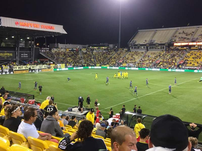 Seating view for Mapfre Stadium Section 126 Row 22 Seat 1