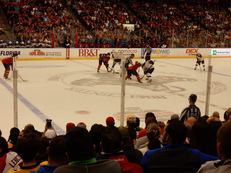 Seating view for BB&T Center Section 119 Row 10 Seat 14