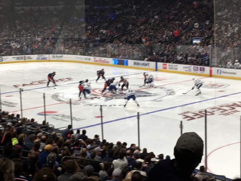 Seating view for Nationwide Arena Section 112 Row W Seat 5