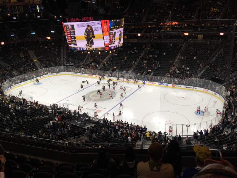 Seating view for T-Mobile Arena Section 208 Row G Seat 15