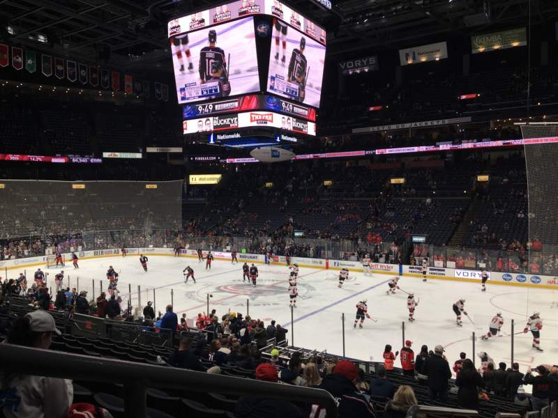 Seating view for Nationwide Arena Section 112 Row W Seat 26