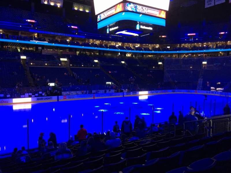 Seating view for Nationwide Arena Section 116 Row Q Seat 15