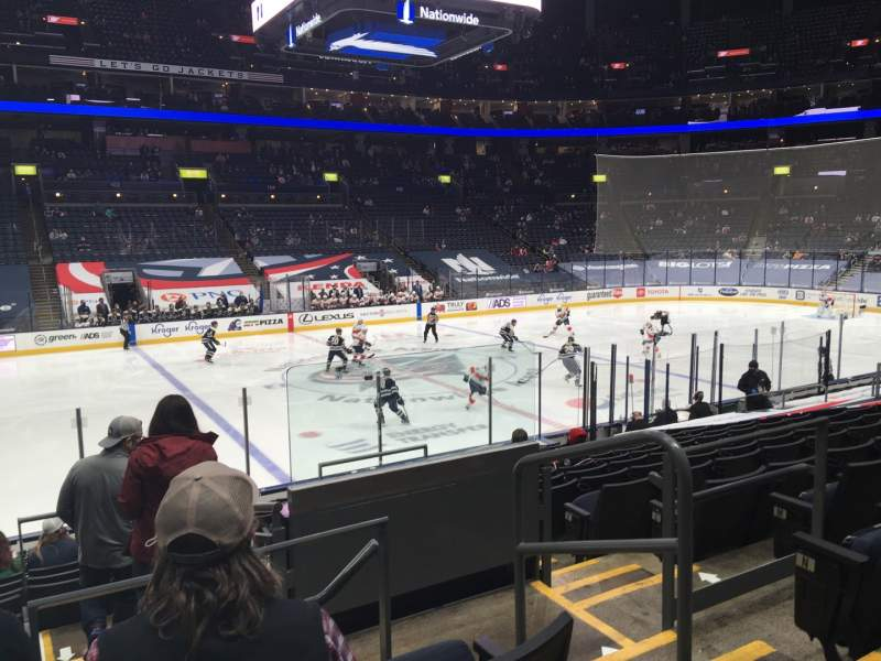 Seating view for Nationwide Arena Section 116 Row Q Seat 3