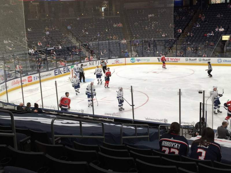 Seating view for Nationwide Arena Section 104 Row S Seat 14