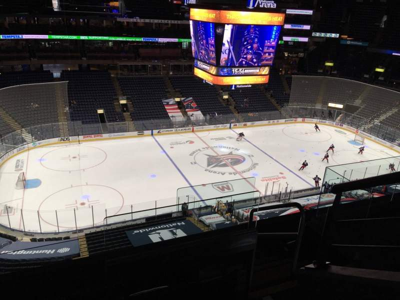 Seating view for Nationwide Arena Section 205 Row E Seat 1
