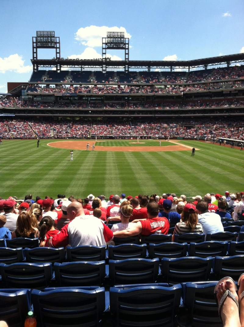 Seating view for Citizens Bank Park Section 143 Row 19 Seat 6
