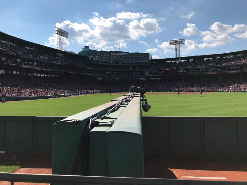 Seating view for Fenway Park Section Bleacher 42 Row 1 Seat 2