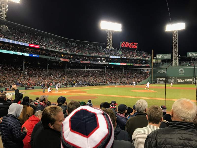 Seating view for Fenway Park Section Field Box 27 Row J Seat 1