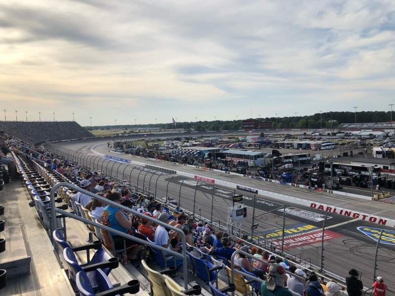 Seating view for Darlington Raceway Section Tj Row 15 Seat 16