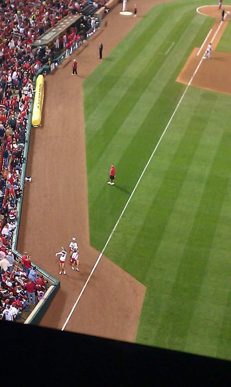 Seating view for Busch Stadium Section 429 Row 9 Seat 12