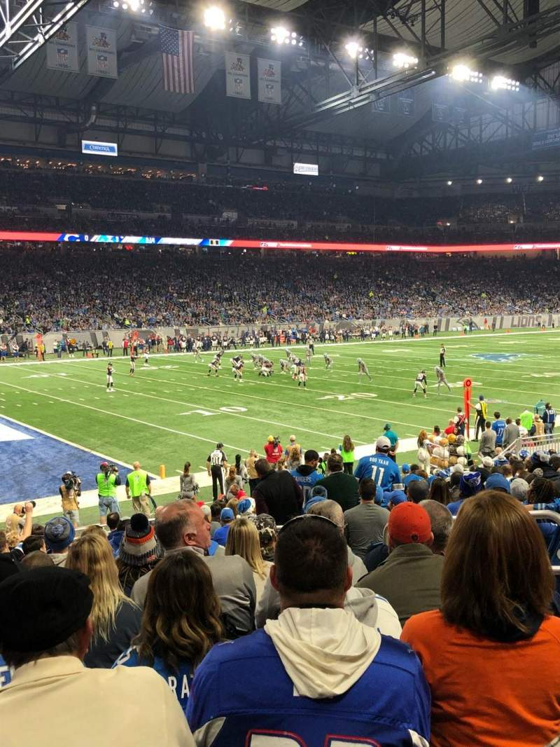 Ford Field, section: 101, row: 16, seat: 13