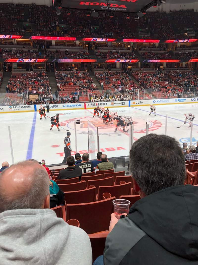 Seating view for Honda Center Section 223 Row L Seat 4