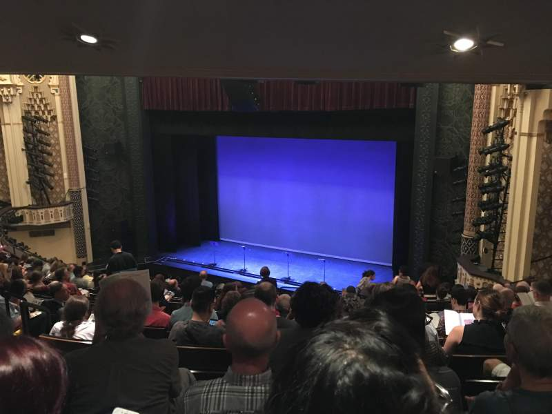 Seating view for Mainstage at the New York City Center Section Mezzanine Row G Seat 12