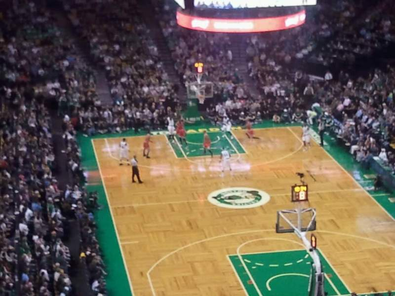 Seating view for TD Garden Section Bal 325 Row 14