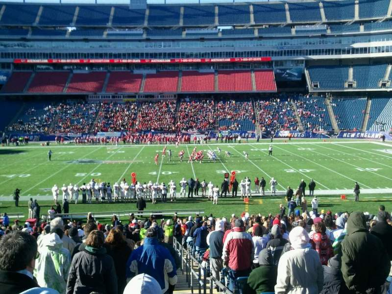 Seating view for Gillette Stadium Section 114