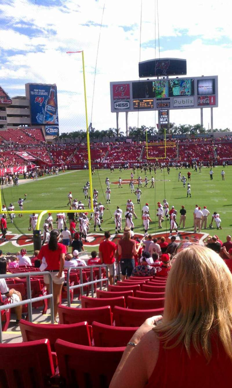Seating view for Raymond James Stadium Section 149 Row Z Seat 3