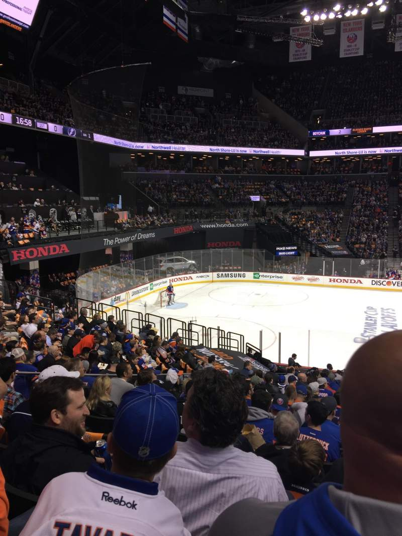 Seating view for Barclays Center Section 126 Row 4 Seat 2