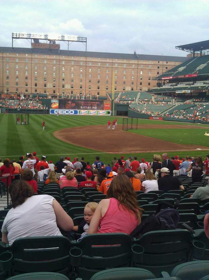 Seating view for Oriole Park at Camden Yards Section 58 Row 21 Seat 15