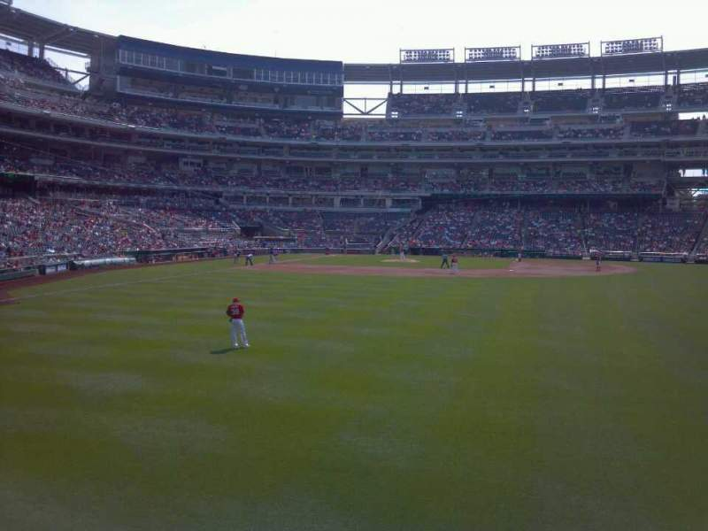 Seating view for Nationals park Section 140 Row A Seat 21