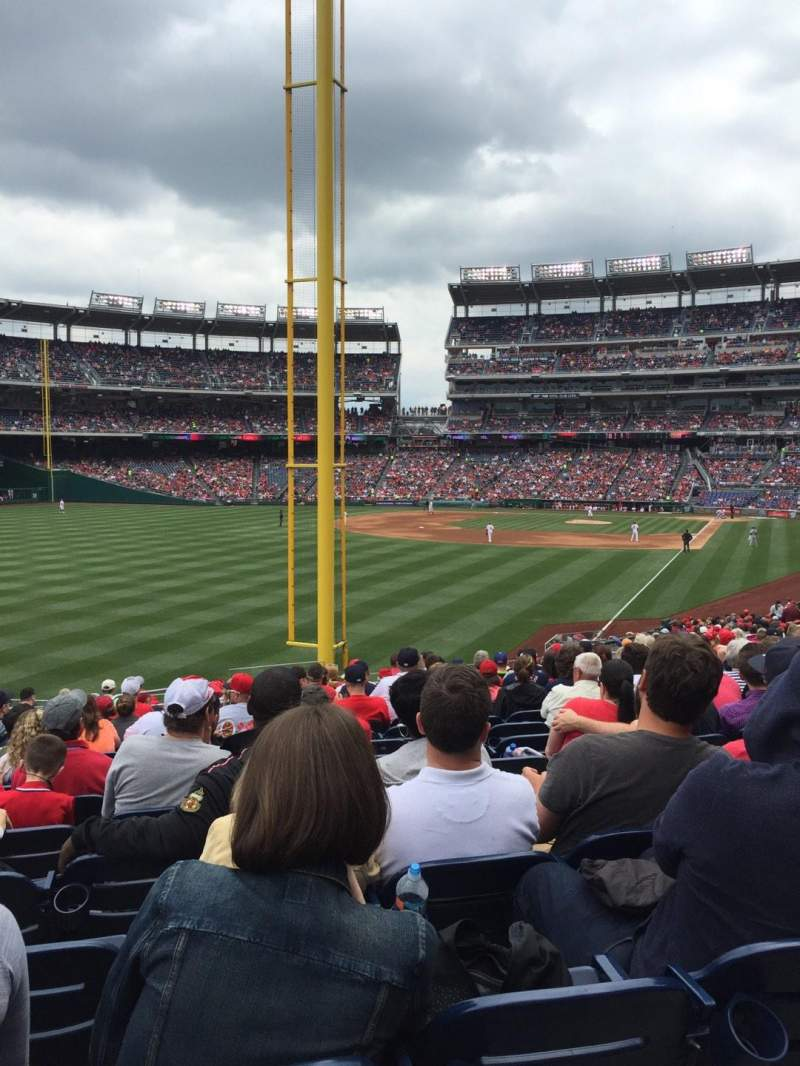 Seating view for Nationals Park Section 107 Row PP Seat 17