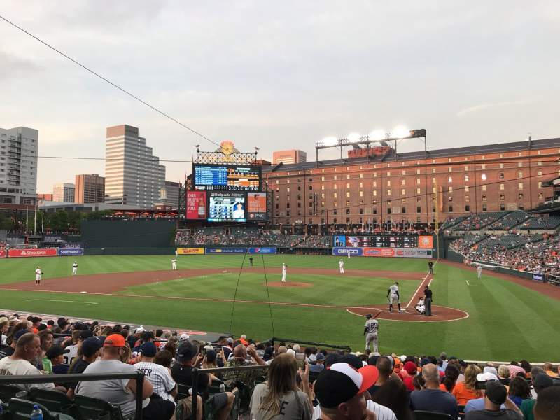 Seating view for Oriole Park at Camden Yards Section 44 Row 20 Seat 7