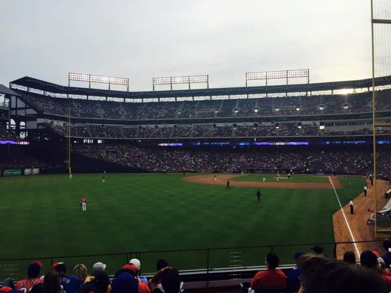Seating view for Globe Life Park in Arlington Section 7 Row 6 Seat 1