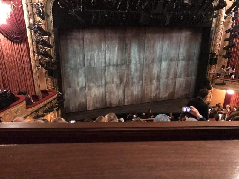 Seating view for Bernard B. Jacobs Theatre Section Mezzanine Row E Seat 9