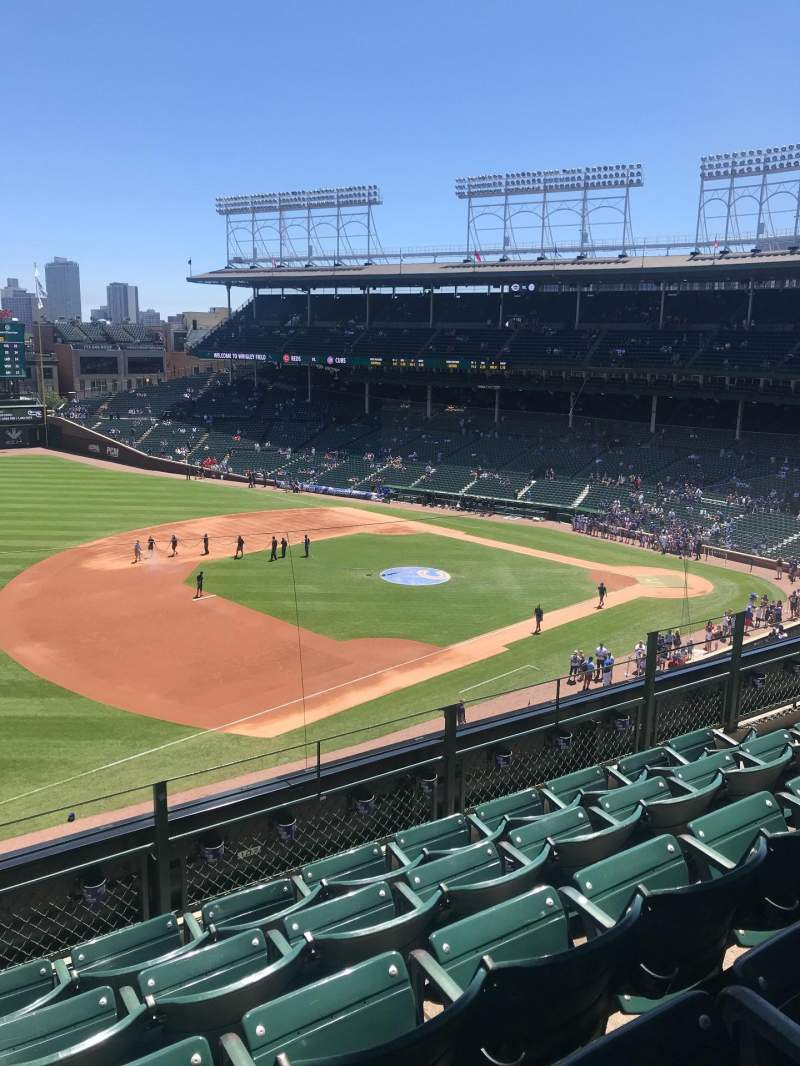 Seating view for Wrigley Field Section 307L Row 5 Seat 16