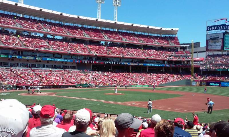 Seating view for Great American Ball Park Section 132 Row X Seat 2