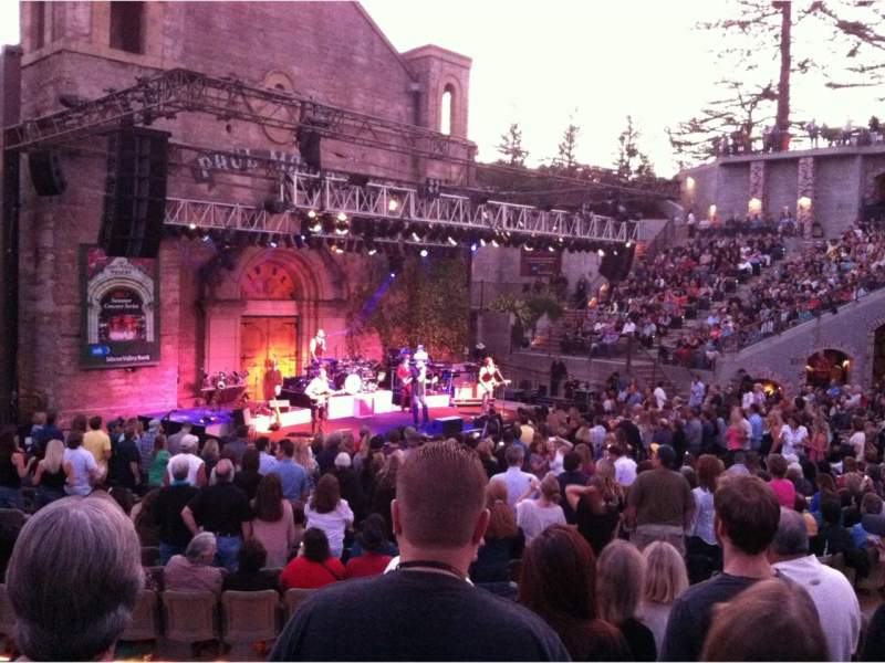 Seating view for Mountain Winery Section 10 Row F Seat 8,9,10,11