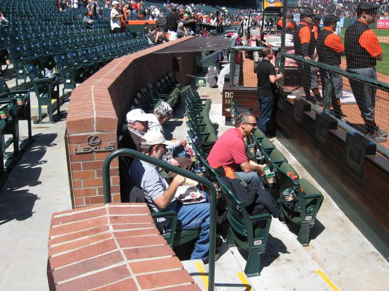 Seating view for AT&T Park Section DC119 Row CCC Seat 1, 2, 3, 4